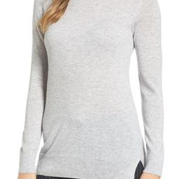 Women's Nordstrom Signature Turtleneck Cashmere Sweater, Size X-Small - Grey | Nordstrom
