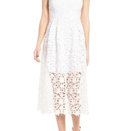 Women's Astr The Label Lace Midi Dress, Size X-Large - White | Nordstrom