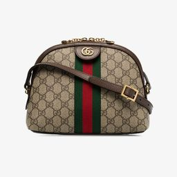 Gucci brown Ophidia small GG Supreme shoulder bag | Browns Fashion