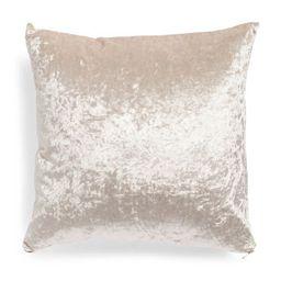 20x20 Crushed Velvet Pillow   TJ Maxx