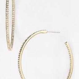 Women's Nadri Medium Inside Out Hoop Earrings (Nordstrom Exclusive)   Nordstrom