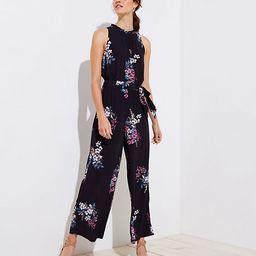 LOFT Bouquet Tie Waist Jumpsuit | LOFT