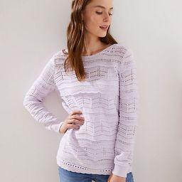 LOFT Pointelle Ruffle Sweater   LOFT