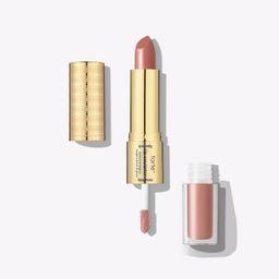 the lip sculptor lipstick & lipgloss - candid /apricot nude | tarte cosmetics