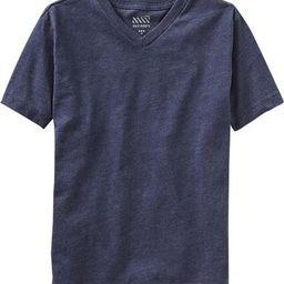 Old Navy Boys Classic V Neck Tees Size L Husky - Dark blue heather   Old Navy US