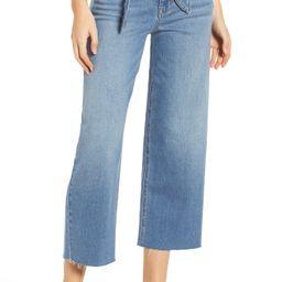 Women's Prosperity Denim Belted Crop Wide Leg Jeans | Nordstrom
