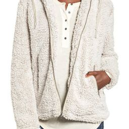 Women's Thread & Supply Brandon Fleece Jacket, Size Small - Ivory   Nordstrom