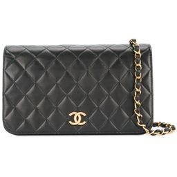 Chanel Vintage quilted flap shoulder bag - Black | FarFetch US