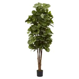 Nearly Natural 6' Fiddle Leaf Fig Tree, Green | Target