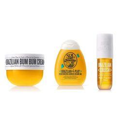 Sol de Janeiro Travel Bundle- Travel size (75ml) Brazilian Bum Bum Cream, Travel size (90ml) Brazilian 4Play Cream Gel, (90ml) Travel Size Brazilian Body Mist   Walmart (US)