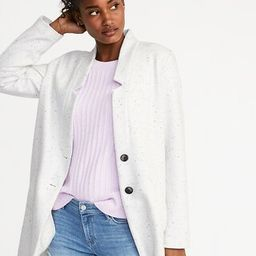 Soft-Brushed Button-Front Coat for Women | Old Navy US