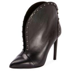 Iren Calfskin Split-Front Ankle Boot | Bergdorf Goodman