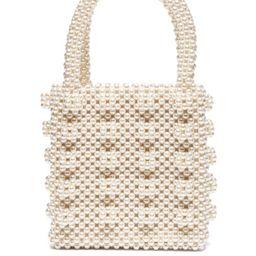 Shrimps - Antonia Faux Pearl Embellished Bag - Womens - Cream | Matchesfashion (Global)