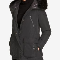 Dkny Faux-Fur-Trim Quilted-Back Puffer Coat | Macys (US)