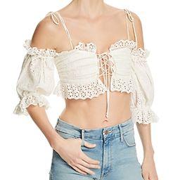 For Love & Lemons Anabelle Eyelet Crop Top   Bloomingdale's (US)