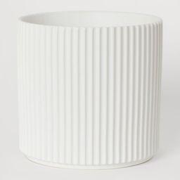 H & M - Large Stoneware Plant Pot - White | H&M (US)