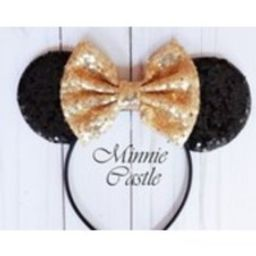 Mickey Mouse Ears, Gold Minnie Ears, Minnie Ears, Mickey mouse headband, Gold and Black Mickey Ears, Disney Ears, mickey Ears, Disney ears | Etsy (US)