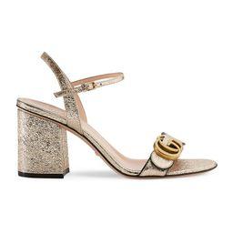 Metallic laminate leather mid-heel sandal   Gucci (US)