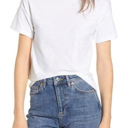 Women's Topshop Short Sleeve Marl T-Shirt, Size 2 US (fits like 0) - White | Nordstrom