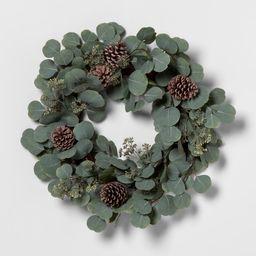 Wreath Eucalyptus Pinecone - Hearth & Hand with Magnolia | Target