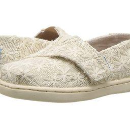 TOMS Kids Alpargata (Infant/Toddler/Little Kid) (Natural Daisy Metallic) Girl's Shoes   Zappos