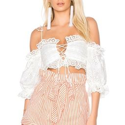 Anabelle Eyelet Crop Top   Revolve Clothing (Global)
