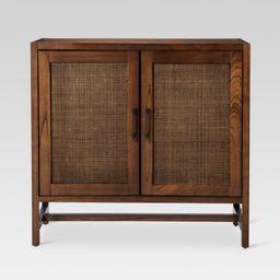 Warwick 2-Door Wood & Rattan Accent Cabinet - Threshold , Brown   Target