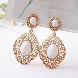 Exaggerated Long Gold Earrings Fashion Women'S Pierced Earrings   Rosegal US