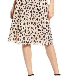 Women's Socialite Leopard Print Midi Skirt, Size X-Small - Black | Nordstrom