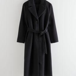 Oversized Alpaca Blend Coat - Black | & Other Stories
