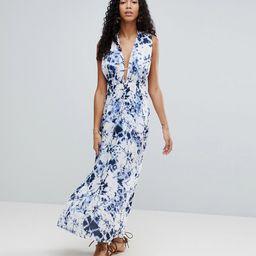 Liquorish Tie Dye Maxi Beach Dress With Side Split | ASOS UK