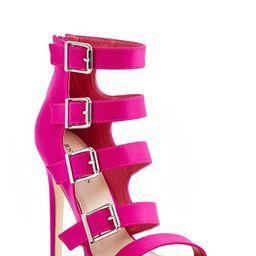 Shoedazzle Sandals-Dressy - Single Sole Connie Heeled Sandal Womens Pink Size 5.5 | ShoeDazzle