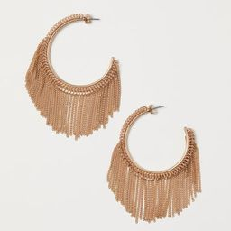 H & M - Hoop Earrings with Chains - Gold | H&M (US)