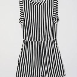 H & M - Sleeveless Jumpsuit - White   H&M (US)