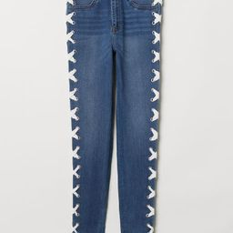 H & M - Jeans with Lacing - Blue   H&M (US)