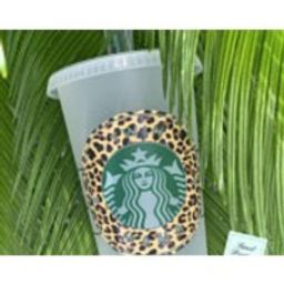 Leopard Print Starbucks Reusable Cold Cup, Leopard Starbucks Hot Cup, Starbucks Tumbler, Personalized Starbucks Coffee Cup   Etsy (US)