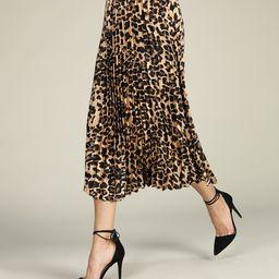 Brown Leopard Pleated Skirt - Women & Plus   zulily