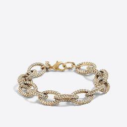 Gold and crystal link bracelet   J.Crew Factory