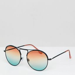 Jeepers Peepers round sunglasses with gradient lens - Red | ASOS US