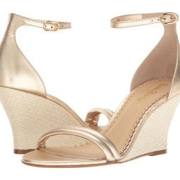 Lilly Pulitzer - Jenna Wedge (Gold Metallic) Women's Wedge Shoes | 6pm