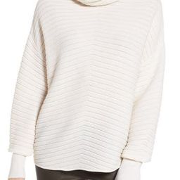 Women's Nordstrom Signature Scrunch Neck Ottoman Knit Cashmere Sweater, Size X-Small - Ivory | Nordstrom