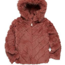 Little Girl's & Girl's Hooded Rabbit Fur & Fox Fur Jacket   Saks Fifth Avenue OFF 5TH