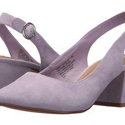 Steve Madden Dizzy Slingback Block Heeled Sandal (Lavender Suede) Women's Sling Back Shoes   Zappos