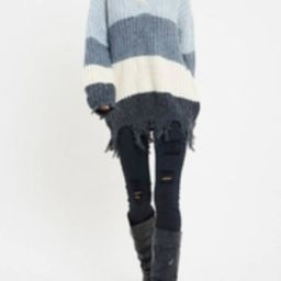 Ripped Color-Block Sweater | Shoptiques