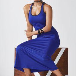 Fabletics Mosa Maxi Dress Womens Iris/Black Size XS | Fabletics
