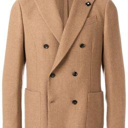 Lardini double-breasted blazer - Brown | FarFetch US