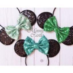 Mickey Mouse Ears, Mint green Minnie Ears, Minnie Ears, Mickey mouse headband, turquoise Mickey Ears, Disney Ears, mickey Ears, green ears | Etsy (US)