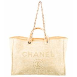 Chanel 2018 Large Deauville Shopping Tote Yellow Chanel 2018 Large Deauville Shopping Tote   The RealReal