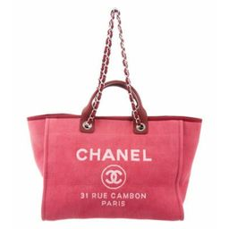 Chanel 2017 Large Deauville Tote Pink Chanel 2017 Large Deauville Tote   The RealReal