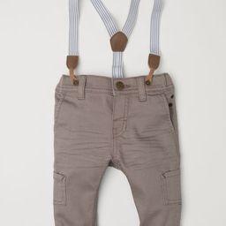H & M - Pants with Suspenders - Brown | H&M (US)